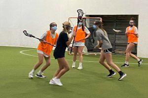 Indoor girls Lacrosse practice with Coastal Rays Lacrosse